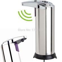 Free Shipping ! Hands Free Motion Activated IR Sensor Automatic Touchless Soap Dispenser Stainless Steel Hi-Q(China (Mainland))