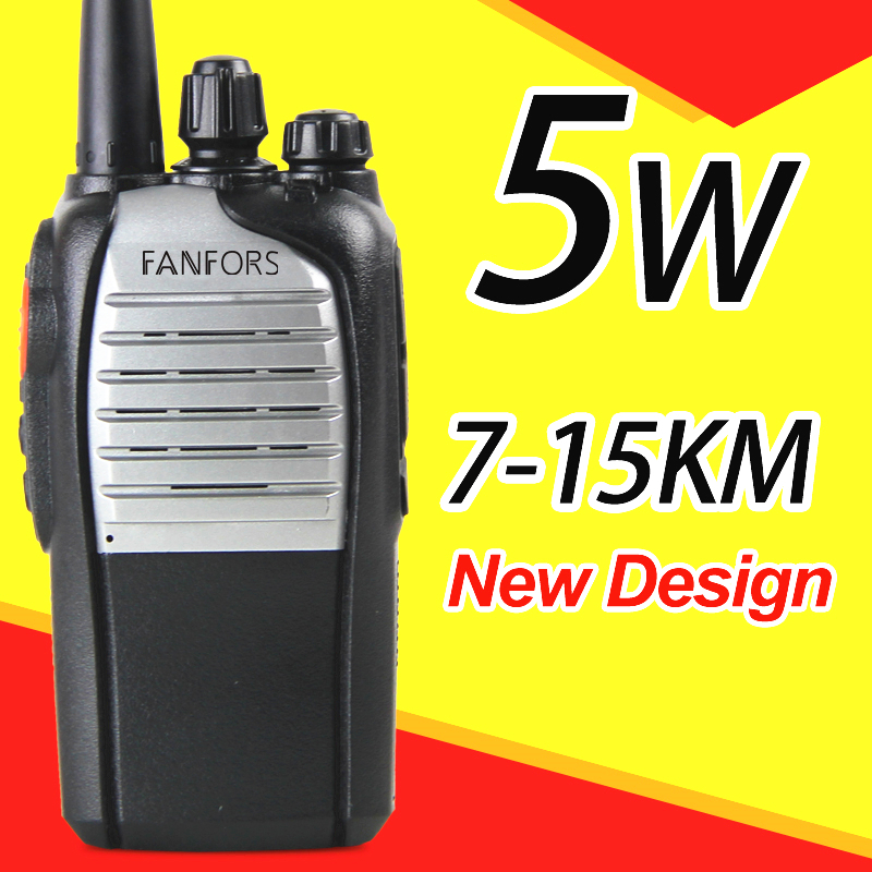 two way radio with silver color high out power 10km walkie talkie(China (Mainland))