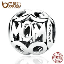 Buy BAMOER Christmas Gift 100% 925 Sterling Silver MOM Pendant Charms Mother Fit Women Bracelets & Necklace Fine Jewelry SCC060 for $4.91 in AliExpress store