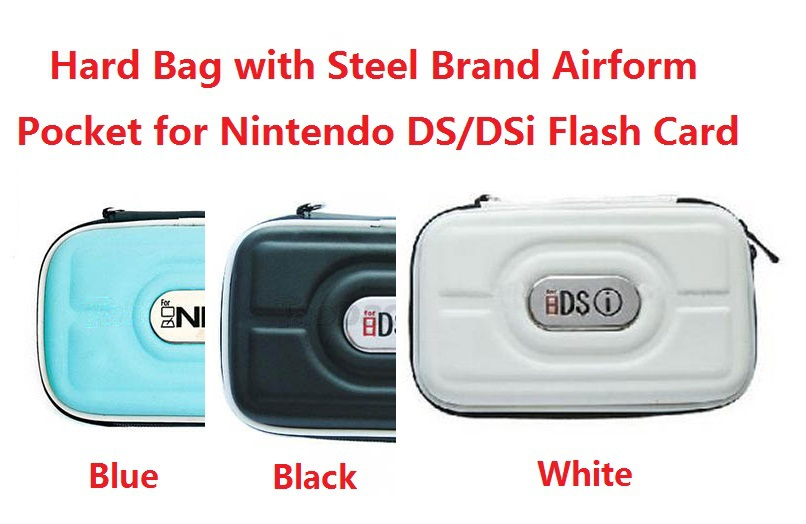 10pcs/Lot Hard Bag with Steel Brand Airform Pocket for Nintendo DS/DSi Flash Card+Multi Colors Optional(Free Shipping)(China (Mainland))