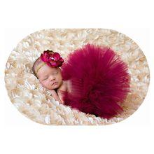 2016 Burgundy Baby Tutu skirt summer girl ball gown Floral headband Newborn photography pros girls tutu ballet skirt GCL0179(China (Mainland))