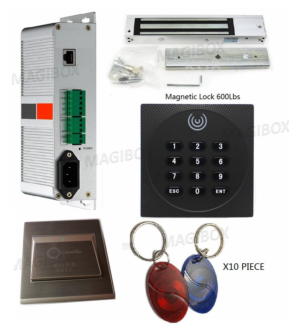 Access Tcp/Ip App Control System Kit Built-in Power Supply With 125Khz ID Card Reader With Software Support Phone<br><br>Aliexpress