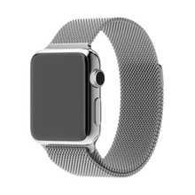 Silver Milanese Loop band & Link Bracelet Stainless steel strap for apple watch 42mm 38mm Watchband(China (Mainland))