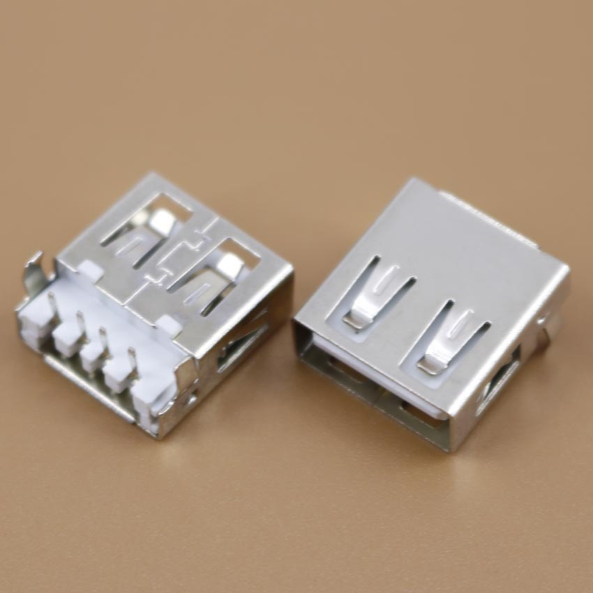 1pcs/lot New DIY Desktop Laptop Compute PC USB Jack 2.0 Female Socket Curved legs Flat port Sink board AF 90-degree(China (Mainland))