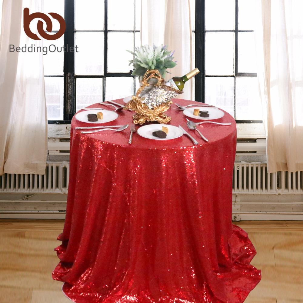 achetez en gros rouge nappe ronde en ligne des grossistes rouge nappe ronde chinois. Black Bedroom Furniture Sets. Home Design Ideas