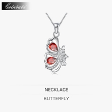 Butterfly Pendant Necklace,CH TS Career 925 Sterling Silver & Zirconia For Girl Lady,South Korea, Japan And South Korea Popular