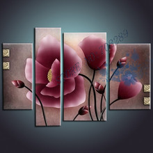 The latest pop Purple flower  Home decoration Paintings Wholesale Cheap Abstract the Modernist Wall Art Oil Painting Picture(China (Mainland))