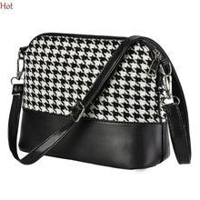 2016 Fashion Women Shoulder Bags Patchwork Leather Canvas Plaid Shoulder Bag Flap Messenger Casual Bag Green Wine Bags SV027080