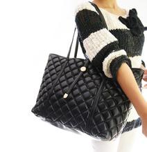 Classic Ling Plaid Tote Bag Women Leather Handbags 2015 Famous Designer Brand Women Shoulder Bags Wholesale