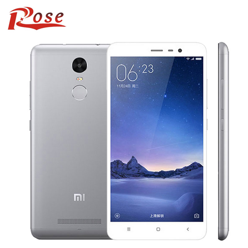 "Original Xiaomi Redmi Note 3 4G Fingerprint Mobile Phone MTK Helio X10 Octa Core 5.5"" 2GB RAM 16GB ROM MIUI 7(China (Mainland))"