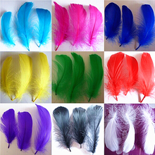 Buy 100 pcs Natural Feather colored feathers DIY Dream catcher decoration colorful goose feather material 10 cm jewelry accessories for $1.83 in AliExpress store