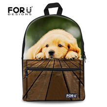 Fashion Children 3D Animals School Bags Kids Canvas Schoolbag For Boys Girls Cute Pet Dog Print Backpack Student Mochila Bookbag(China (Mainland))