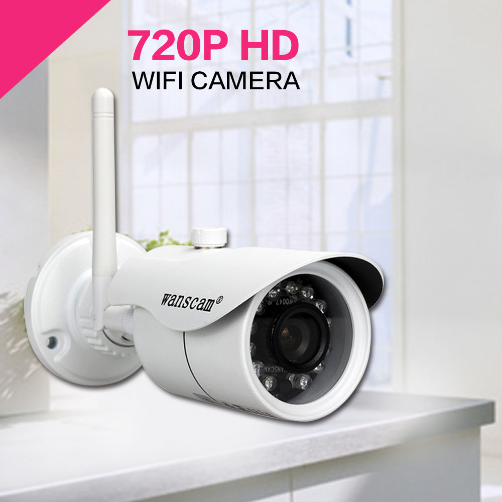 720P HD WiFi Camera Night Vision P2P IP Camera 1.0MP Waterproof IR-cuts Surveillance Camere For Home Security WANSCAM HW0043(China (Mainland))