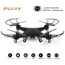 Profissional Drone Quadcopter with 2.0MP Camera HD 2.4G 4CH 6-Axis Gyro RC Helicopter Quadrocopter Drones FQ777-918 FQ777 918