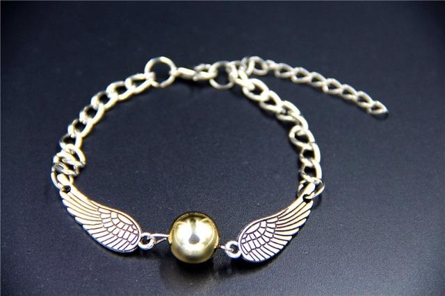 2015 мода старинные шарм HP золотой снитч браслет