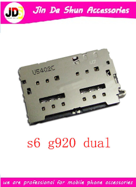 10PCS/LOT For Samsung Galaxy S6 G9200 G920 G920F G920T G920N G920A G920P Double Sim Card Reader Holder Slot Tray Free Shipping