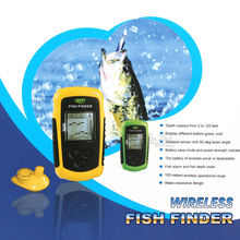 Free Shipping!Lucky FFW1108-1 Portable 100m Wireless Fish Finder Alarm 40M/130FT Sonar Depth Ocean River