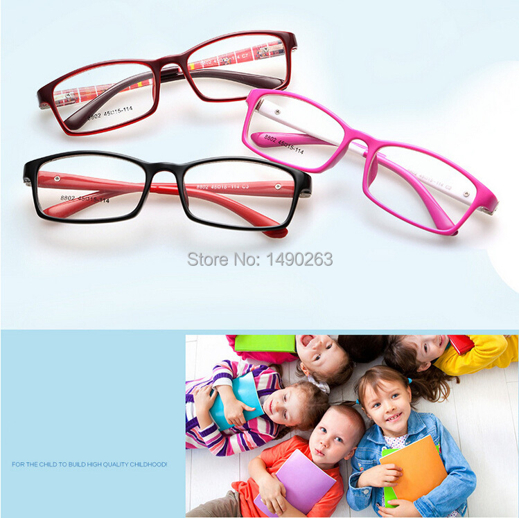 10pcs/lot TR90 Kids Frame Optical Eye Glasses With Lens Children Eyeglasses Ultra Light Student Teens Eyeglasses Spectacle Frame(China (Mainland))
