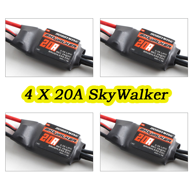 4X 20A ESC Hobbywing SKYWALKER 9G Brushless Speed Controller RC FPV Multicopter(China (Mainland))