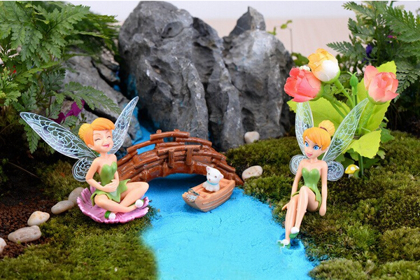Retail 6pcs/set boneca 6~8 cm Tinkerbell dolls Fairy Adorable tinker bell Mini toy flower pretty doll Action Figure brinquedo(China (Mainland))