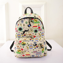 2016 New Canvas Printing Backpacks Women Backpacks School Bags for Girls Schoolbag Student Book Bag Bolsas