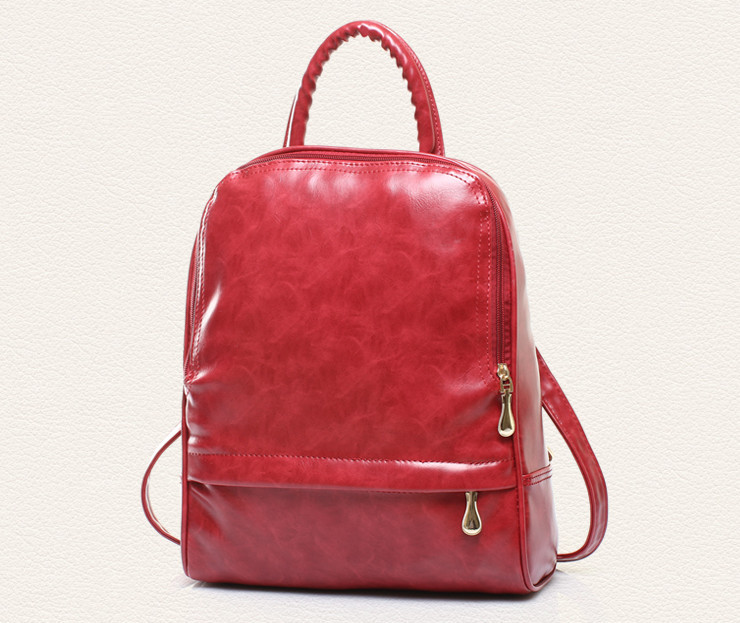 Fashion Backpack Travel College Bag Women  PU Leather Preppy Style Solid Bag Bags For Women New<br><br>Aliexpress