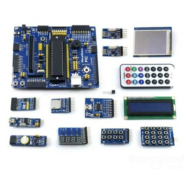 PIC PIC16 PIC16F877A Development Board Core-Board Kit With 13 Modules(China (Mainland))
