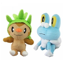 2PCS/LOT Pokemon Froakie Frogs Chespin Starter Grass Plush Doll Anime Brinquedos Baby Dolls Kids Toys Gift Brinquedos 18cm