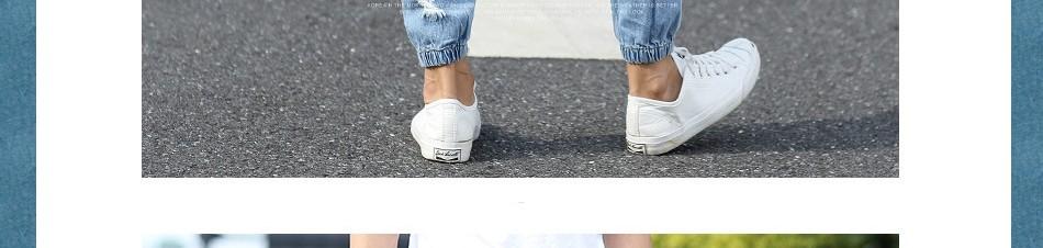 Hot Style Fashion Hole Ripped Jeans Men Elastic Waist Drawstring Stonewashed Ankle Band Pants Teenagers Harem pants Boys M-XL