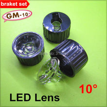 Buy 50sets/lot LED lens 10 degree High power Angle 1W 3W bracket set holder LED lamp Condensing Lenses transparent (GM-10) for $12.00 in AliExpress store
