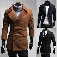 2012  New Arrival Bouble-breasted turn down-collar  Jacket Men's Shitsuke Coat Fashion Coat 201208017(China (Mainland))