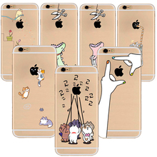 Buy Fashion Cute cartoon pattern iphone 5s 6 plus case Soft Silicon Phone Case Back Cover Apple Iphone 6 Case 6S Cover for $1.52 in AliExpress store