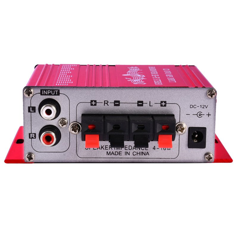 20W Hifi Mini Digital Amplificador Motorcycle Auto Car Stereo Power Amplifier Sound Mode Audio Support DVD MP3 For Home(China (Mainland))