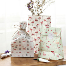 Buy 3 pcs/set 21*18cm flamingos series Paper bag Best Gift Bags Sticker Christmas Wedding Party Candy Food Packaging bag for $2.29 in AliExpress store