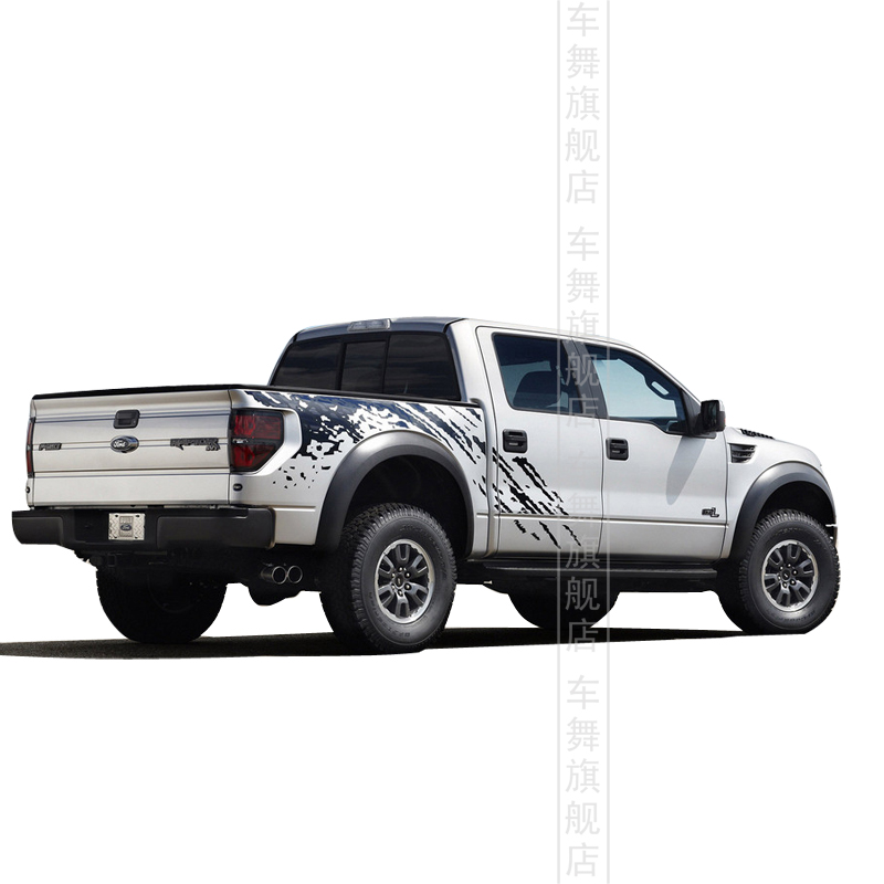 Car styling Pickup truck whole body sticker personalized modification decorative reflective car Ford F150 - Pro Auto Beauty store