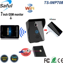 """Buy Wireless wifi video intercom door phone camera gsm video doorbell intercom High definition 7""""touch screen 3g system android/ios for $134.40 in AliExpress store"""