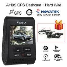 """VIOFO A119S V2 2.0"""" Capacitor Novatek 96660 HD 1080p 7G F1.6 Car Dashcam Video DVR GPS Car Dashcam Camera Record+ Hard Wire(China (Mainland))"""