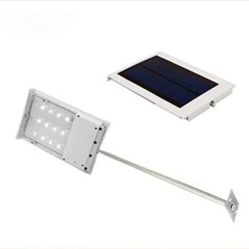 12 led 1 8w solar lamp led street light with sensor switch. Black Bedroom Furniture Sets. Home Design Ideas