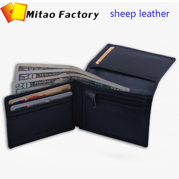 2016 New Fashion Simple Bellroy Design Black Color Sheep Leather Card holder Wallet With Coin Bag Pocket Purse <br><br>Aliexpress