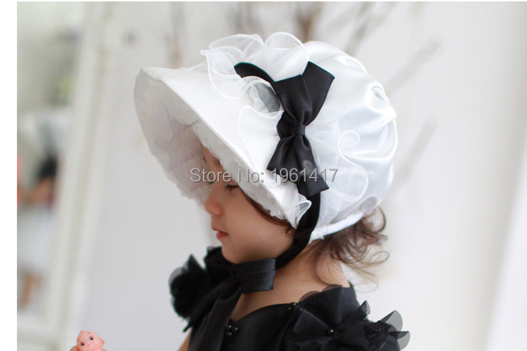 2016 Cheap Baby Girl Lace Cap Handmade Girls Dress Accessories Bonnet BOW Factory Price Direct Selling - My store