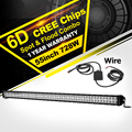 Oslamp 6D LED Light Bar Offroad CREE Chips 55 728W Combo Led Work Light Driving Lamp