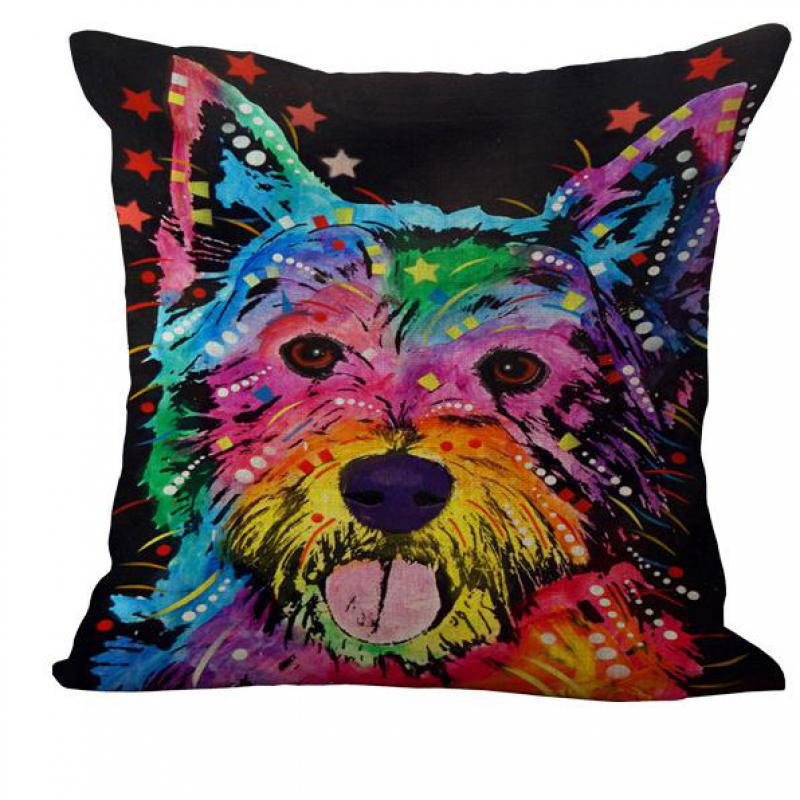 Best Price Colorful Animal Graffiti Dog Pillow Cushion Sofa Decoration Gift Birthday Bedding Outdoor Chair Home(China (Mainland))