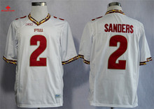Nike Florida State Seminoles (FSU) Deion Sanders 2 College Ice Hockey Jerseys -Black Size M,L,XL,2XL,3XL(China)