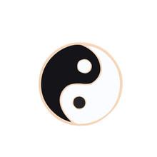 Vintage Spille k Fonografo Tai Chi Smalto Spilli Latte Star OMG Spilla per Le Donne Giubbotti Risvolto Button Badge Spille Gioelleria raffinata e alla moda regalo(China)