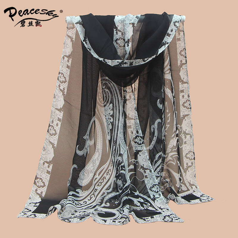 women's voile shawls High quality female digital print silk scarves 2015 new fashion ladies' casual scarfs wholesale gift(China (Mainland))