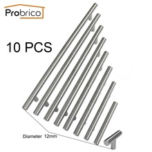 Probrico 10 PCS Diameter 12mm CC 50mm~320mm Stainless Steel Kitchen Cabinet  T Bar Knob Furniture Drawer Handle Cupboard Pull(China (Mainland))