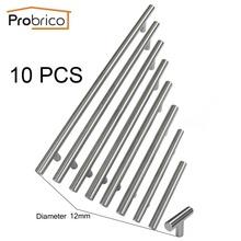 Probrico 10 STÜCKE Durchmesser 12mm CC 50mm ~ 320mm Edelstahl Küchenschrank T Bar Möbel schublade Griff Schrank Pull(China (Mainland))