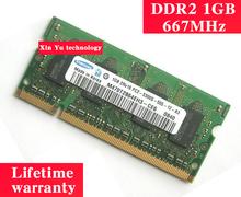 Garanzia a vita per samsung ddr2 1 gb 2 gb 667 mhz pc2 originale autentico ddr 2 1g memoria per notebook laptop ram sodimm(China (Mainland))