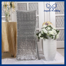 CH004R wholesale cheap wedding glitter silver sequin chair cover(China (Mainland))