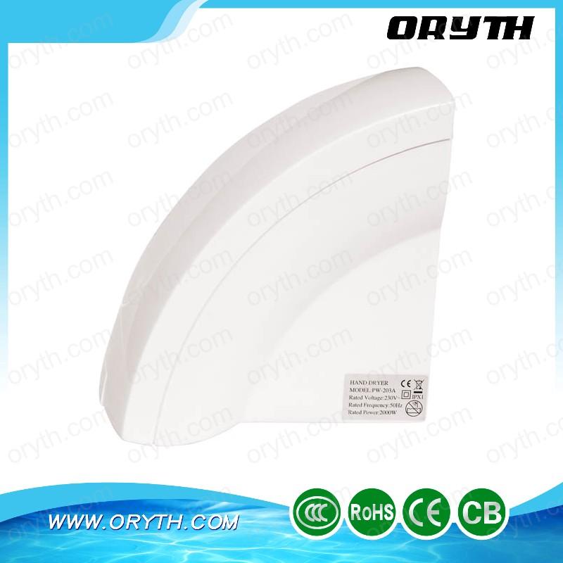 Sanitary Wares Bathroom design Brush Motor ABS speed sensor China hand dryer(China (Mainland))